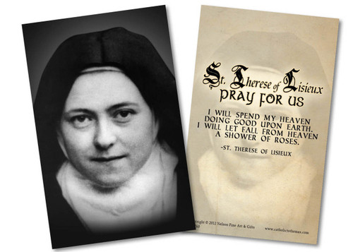 St. Therese (Nun) Holy Card
