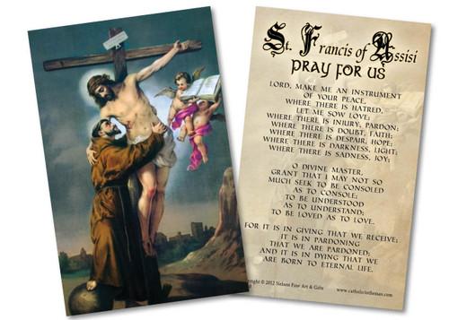 St. Francis with Christ Peace Prayer Holy Card