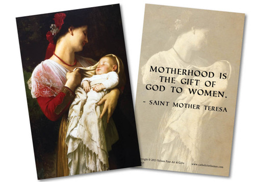 Maternal Admiration Holy Card