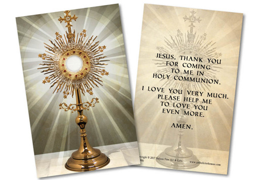 Monstrance First Communion Holy Card