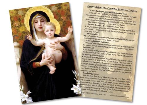 La Vierge au Lys Holy Card
