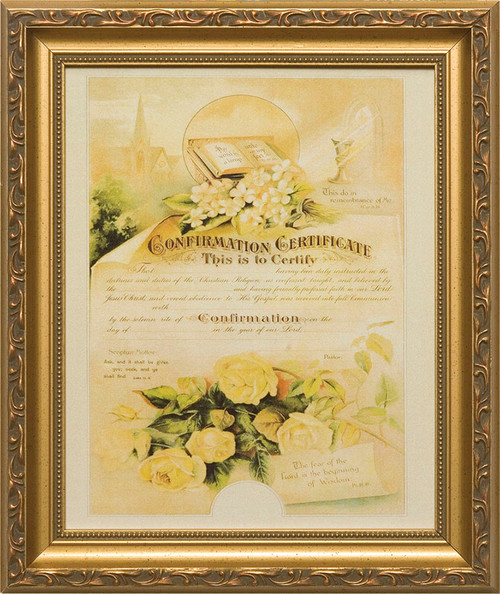 Certificate of Confirmation (From Original Lithograph) Framed