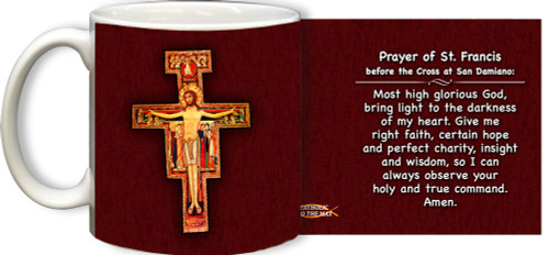 San Damiano with Prayer Mug