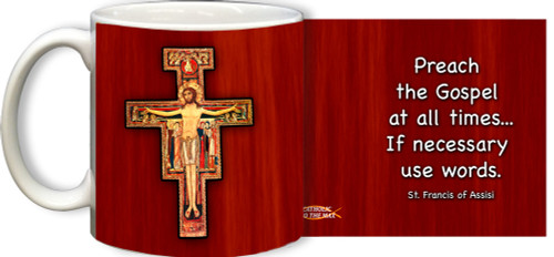 San Damiano with Quote Mug