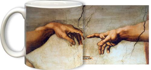 The Creation of Adam Detail Mug
