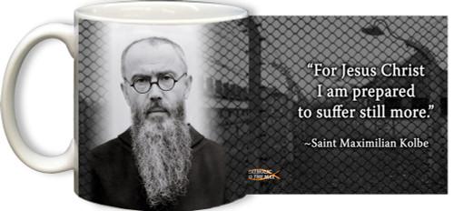 St. Maximilian Kolbe with Quote Mug
