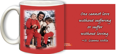 St. Gianna Molla in the Snow with Quote Mug