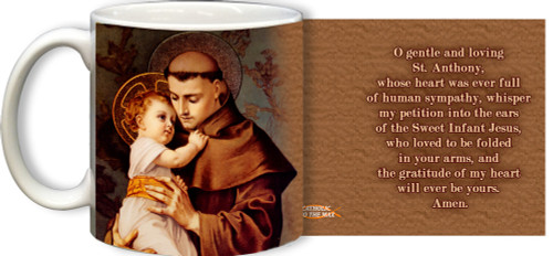 St. Anthony with Jesus with Prayer Mug