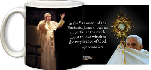 Pope Benedict XVI with Quote Mug