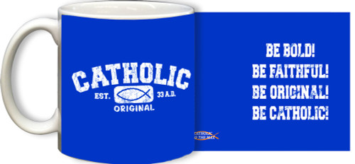 Catholic Original White/Blue Mug