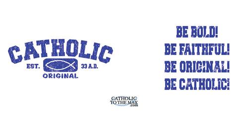Catholic Original Blue/White Mug