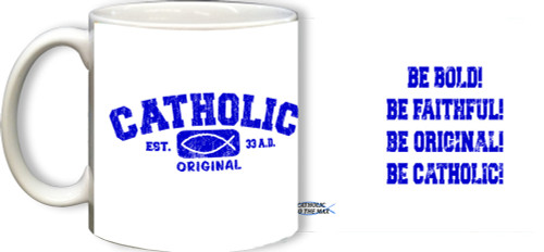 Catholic Original Blue/White Mug