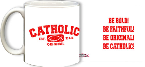 Catholic Original Red/White Mug