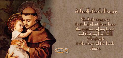 St. Anthony with Jesus A Godfather's Prayer Mug