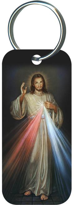 Divine Mercy Rectangle Keychain