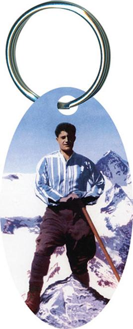 Bl. Pier Giorgio Oval Keychain
