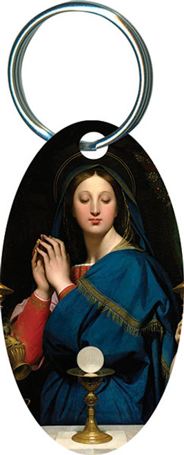 Madonna of the Host Oval Keychain