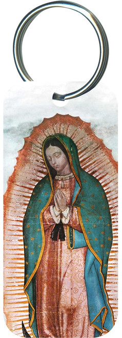 Our Lady of Guadalupe Rectangle Keychain