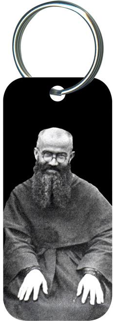 St. Maximilian Rectangle Keychain