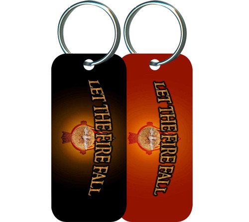 Let the Fire Fall Rectangle Keychain