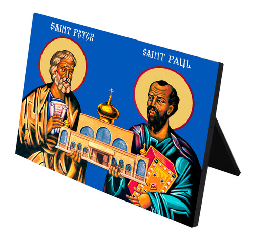 Sts. Peter and Paul Horizontal Desk Plaque