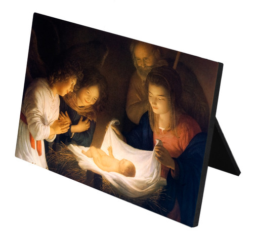 Nativity Horizontal Desk Plaque
