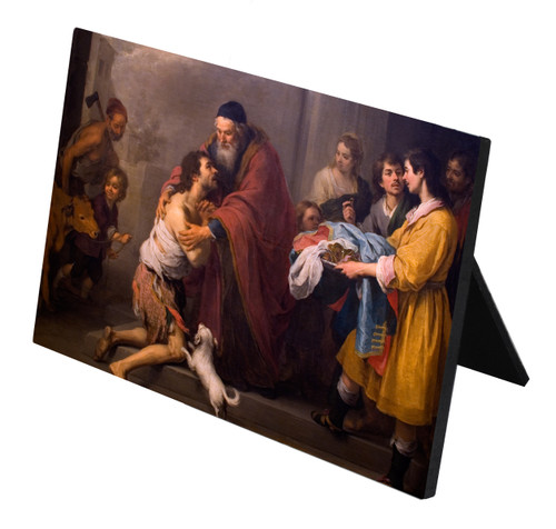 Prodigal Son by Murillo Horizontal Desk Plaque