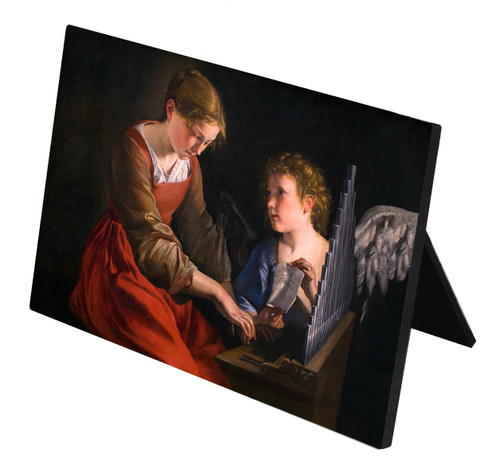 St. Cecilia Horizontal Desk Plaque