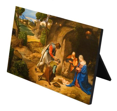 Adoration of the Shepherds Horizontal Desk Plaque