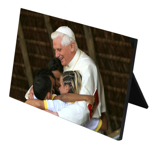 Pope Benedict with Children Horizontal Desk Plaque