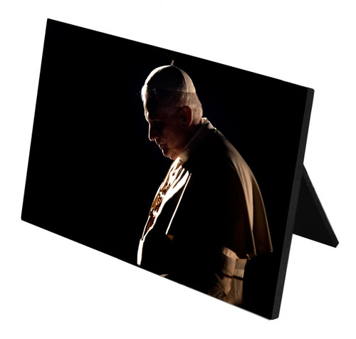 Pope Benedict in Prayer Horizontal Desk Plaque