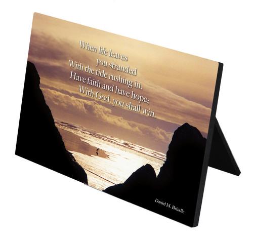 Tide Poem Horizontal Desk Plaque