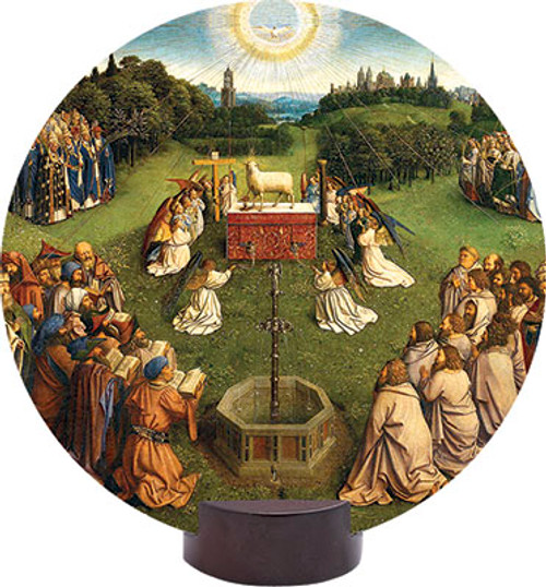 Altar of the Lamb Detail Round Desk Plaque
