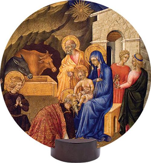 Adoration of the Three Magi Round Desk Plaque