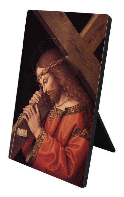 Bearing the Cross Vertical Desk Plaque