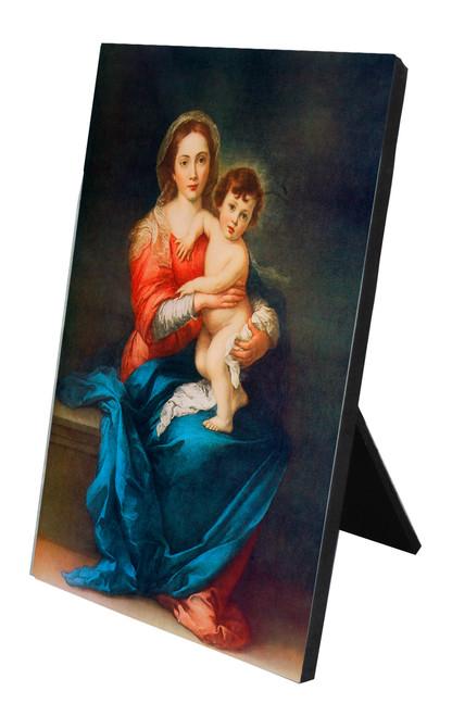 Virgin with Child Vertical Desk Plaque