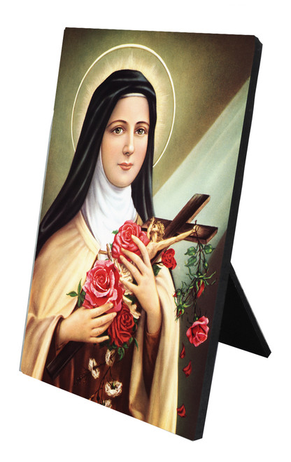 St. Therese of Lisieux Vertical Desk Plaque