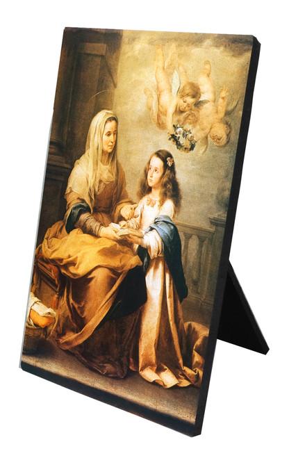 St. Anne Vertical Desk Plaque