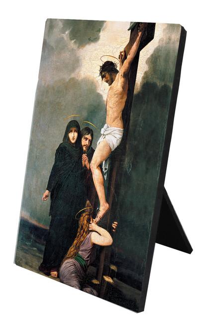 Crucifixion Vertical Desk Plaque