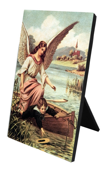 Guardian Angel on the Boat Vertical Desk Plaque