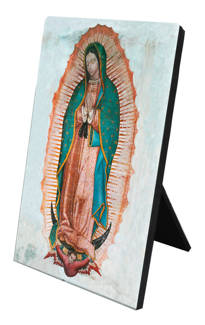 Our Lady of Guadalupe Vertical Desk Plaque