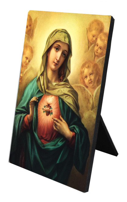 Immaculate Heart of Mary Vertical Desk Plaque