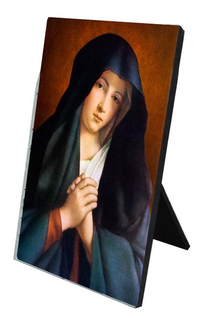 Crying Madonna Vertical Desk Plaque