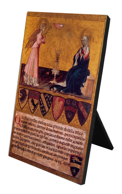 Annunciation with Verse by Giovanni di Paolo Vertical Desk Plaque