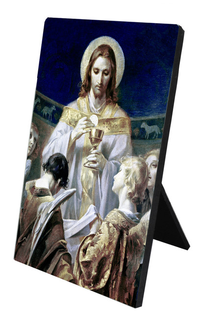 Christ, Bread of Angels Vertical Desk Plaque