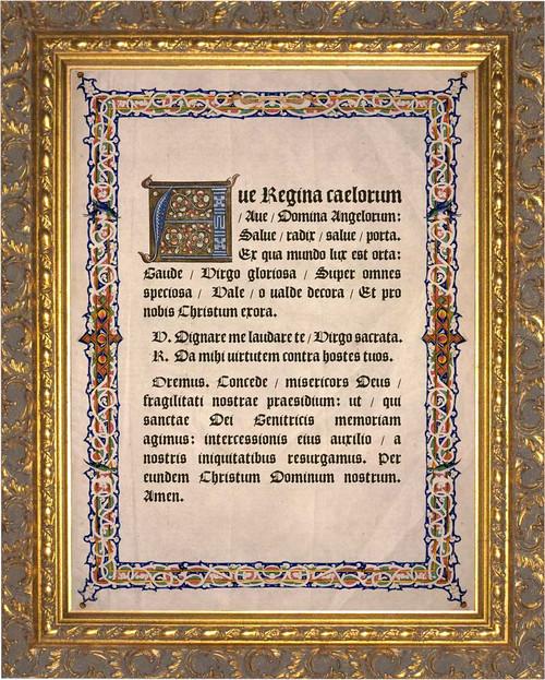 Latin Angelus Gold Framed Art