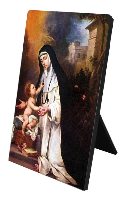 St. Rose of Lima Vertical Desk Plaque