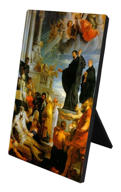 St. Francis Xavier Vertical Desk Plaque