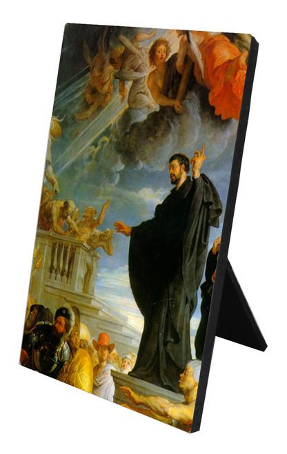 St. Francis Xavier Detail Vertical Desk Plaque