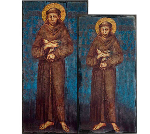 St. Francis Rustic Wood Icon Plaque